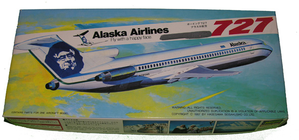 727 Aircraft Model in box