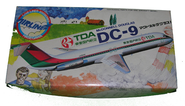 DC-9 Aircraft Model in box