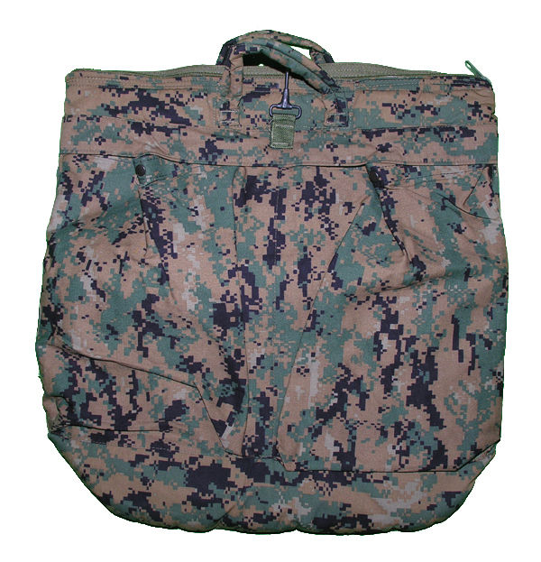 """Military Flight Helmet Bag, Digital Green"""