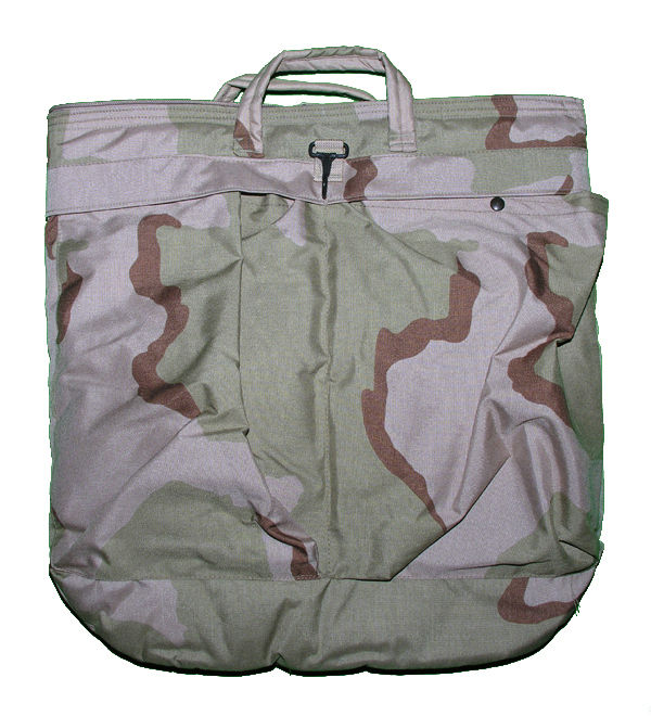 """Military Flight Helmet Bag, Desert Camo"""