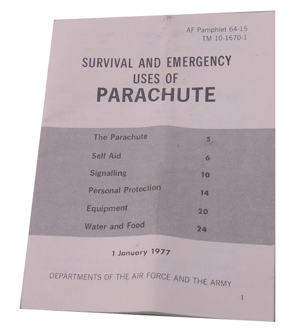 Survival and Emergency Uses of Parachute Booklet