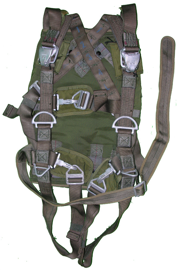 Troop Back Parachute Harness and Pack
