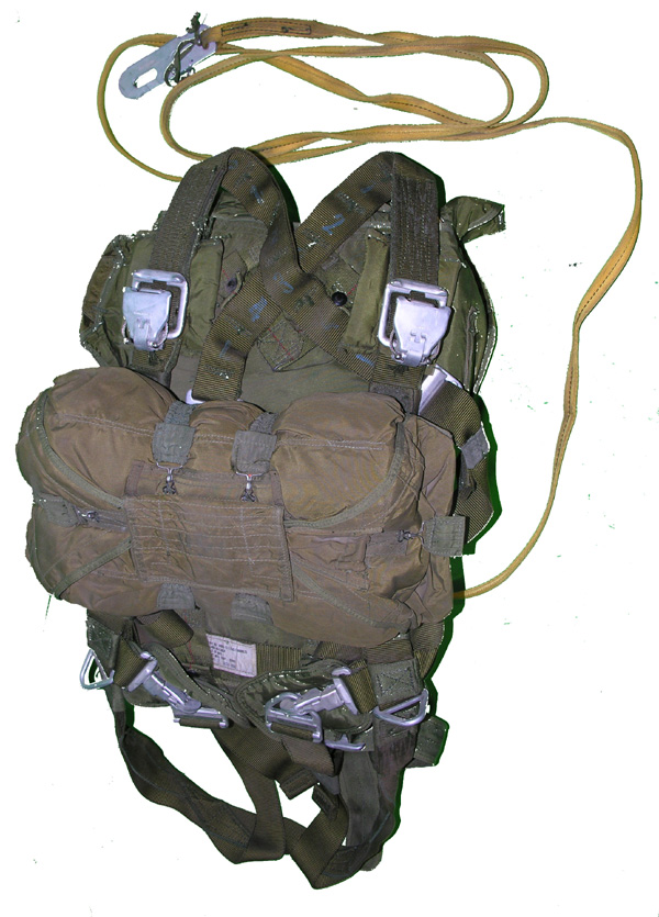 Troop Back Parachute with Reserve