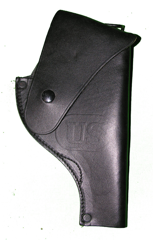 Black Leather Revolver Holster