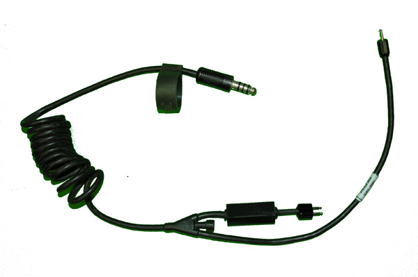 Oxygen Mask Cable with Civilian Microphone Amplifier Built-in and U-174 Plug