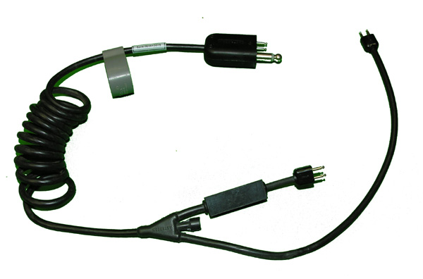 Oxygen Mask Cable with Civilian Microphone Amplifier Built-in and U-75/U Plug