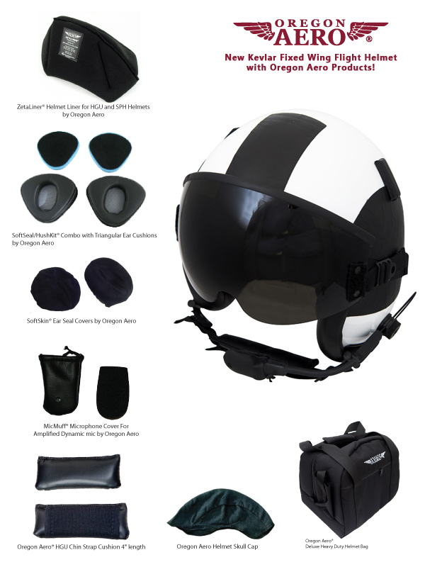 New Kevlar Fixed Wing Flight Helmet with Oregon Aero Products!