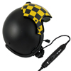 New Kevlar Fixed Wing Flight Helmet with Lightspeed Zulu H-Mod Helmet ANR System Installed