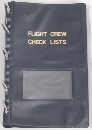 """Aviator's Checklist Binder, BLUE"""