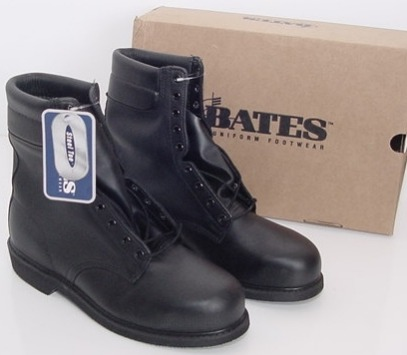 """Bates Leather Flight Boots, with Steel Safety Toe - 9"""" Tall. See drop menu for size & price."""